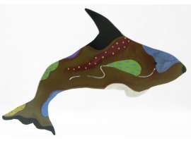 Orca Painted Ornament