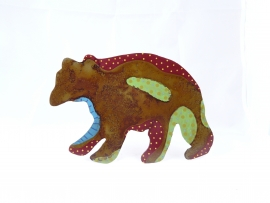 Bear Painted Plant Stick
