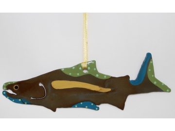 Salmon Painted Ornament