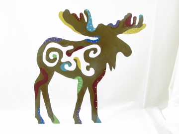 "Designer Painted Moose 8""or 11"""