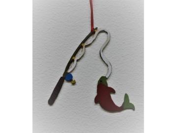 Fishing Pole Ornament