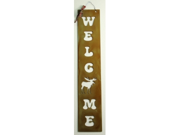 Welcome Long Moose Sign