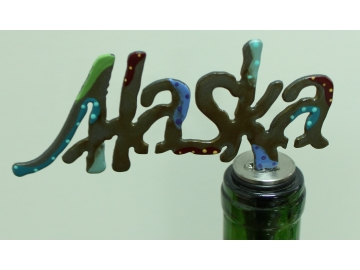 Alaska Painted Wine Stopper